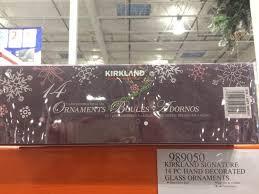 kirkland signature 14 pc decorated glass ornaments costcochaser