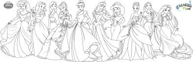 disney princesses coloring page kids funycoloring