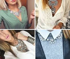 necklace with white shirt images 20 ways to wear statement necklaces png