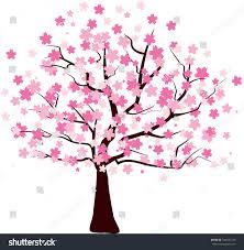 pink tree vector stock vector 547633729