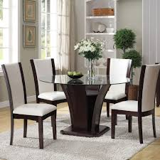 malik 5 piece dining table and chair set by acme furniture