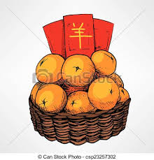 new years basket new year tangerine basket traditional new