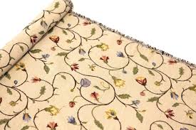 Tapestry Fabrics Upholstery Traditional Floral Flowers Tapestry Soft Upholstery Curtains Sofa