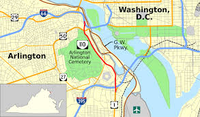 Washington Mall Map by Virginia State Route 110 Wikipedia