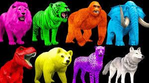 color animals surprise eggs for children learn animals colors