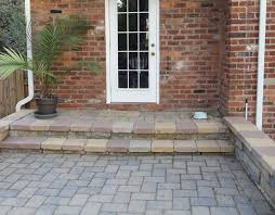 laying pavers over concrete patio paver patio stairs with landing google search porch steps