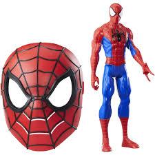 marvel titan hero series spider man figure and mask walmart com