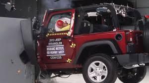 crashed jeep liberty iihs 2013 jeep wrangler 2door small overlap crash test