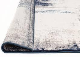 Modern Designer Rugs by Abelino 3274 Blue Abstract Watercolour Patterned Modern Designer