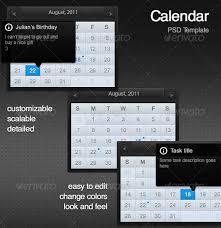 25 premium calendar resources for designers and web developers
