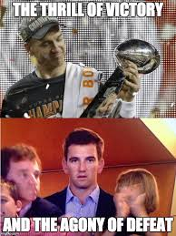 Peyton Manning Super Bowl Meme - the thrill of victory imgflip