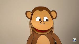 Monkey Paper Plate Craft - how to make a monkey puppet