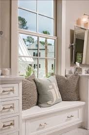 Bathroom Bench With Storage Bathrooms Built In Bathroom Window Seat With Storage 25