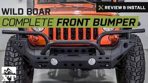 jeep wrangler front bumper jeep wrangler wild boar complete front bumper 2007 2017 jk