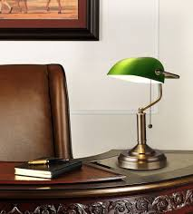 Bankers Style Desk Lamp Torchstar Traditional Banker U0027s Lamp Antique Style Emerald Green