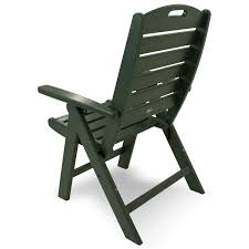 High Back Patio Chair by Trex Outdoor Furniture Yacht Club Highback Folding Chair Yacht