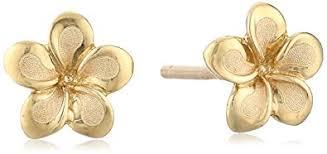 flower stud earrings 14k yellow gold flower stud earrings jewelry