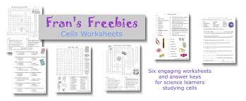 fran u0027s freebies cells worksheets u2013 home education resources