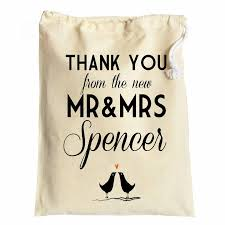 wedding gift bag wedding favour thank you cotton drawstring gift bags newly weds