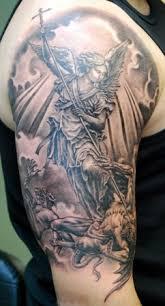 infamous tattoo company tattoos portrait saint michael