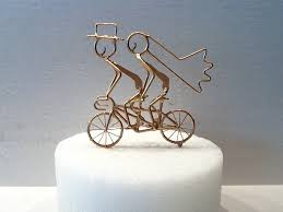 bicycle cake topper wedding cake toppers bicycle built for two renovatory tandem bike
