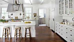 grey kitchen cabinets wood floor 4 kitchen designs that make oak flooring shine