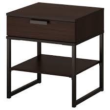 bedroom nightstand black and brown nightstand solid wood