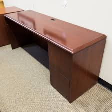 Mahogany Office Furniture by Used Bow Front Office Desk U0026 Credenza Set Mahogany Deu1478 020
