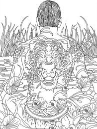 hard trippy coloring pages free for adults gts81 challenging