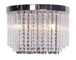 Bhs Chandelier Lighting Modern Chrome Glass Flush Ceiling Light Fitting