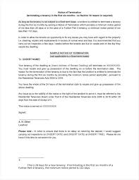 Rent Termination Notice by 20 Agreement Termination Letters Free Word Pdf Excel Format