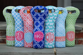 monogramed items items similar to personalized wine tote bag monogram or