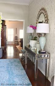 entry way revamp reveal with flor squares