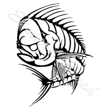 salt life decal fish skeleton sticker ebay