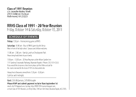 Reunion Invitation Card Templates Rrhs Class Of 1991 20 Year Reunion Invitation