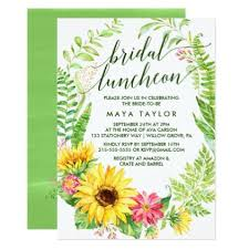 bridal luncheon gifts summer sunflower wreath bridal luncheon card sunflower wreaths