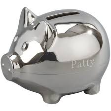 personalized silver piggy bank coffee bean piggy bank personalized piggy bank cappuccino latte