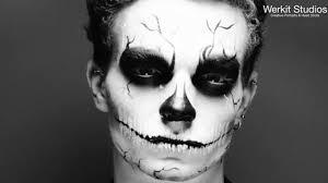 halloween skeleton face paint fun on vimeo