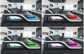 sofa l form mit schlaffunktion design wohnlandschaft palermo u form mit led exklusiv bei