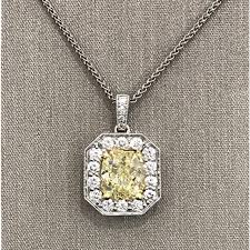 yellow diamond pendant necklace images Fancy yellow diamond pendant diamond necklaces fine jewelry jpg