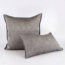 plaid gris canapé bas clé de luxe géométrique abstrait canapé housse de coussin salon