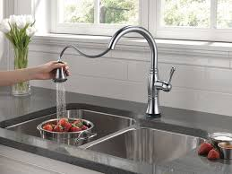 delta chrome kitchen faucets delta faucet 9197t ar dst cassidy single handle pull kitchen