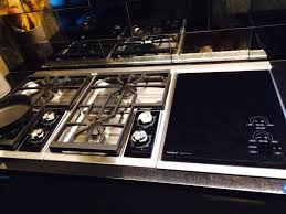 Wolf 36 Electric Cooktop Home Design Modern Wolf Cooktop With White Cabinets And Mountain View