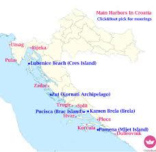Map A Trip Croatia In 5 Mooring Spots A Trip To Remember Click U0026 Boat Blog