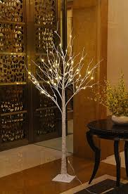 lightshare 6 feet lighted birch tree 72 led lights decoration