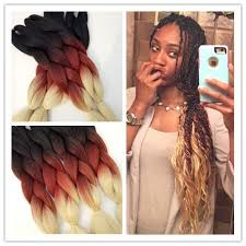 box braids hairstyle human hair or synthtic 24 5packs 500g1b reddish brown beige synthetic ombre jumbo