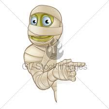 halloween mummy cartoon illustration gl stock images