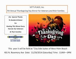 what day is thanksgiving on every year firm is sponsoring thanksgiving dinner for veterans and their families