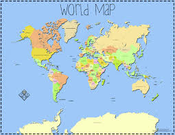 Map Of Countries Map Of The World With Labels Map Of The World With Labels Map