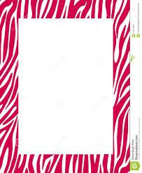 zebra print border colored stock images image 14417624
